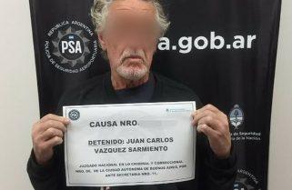 Detuvieron al apropiador y represor de la Fuerza Aérea Juan Carlos Vázquez Sarmiento