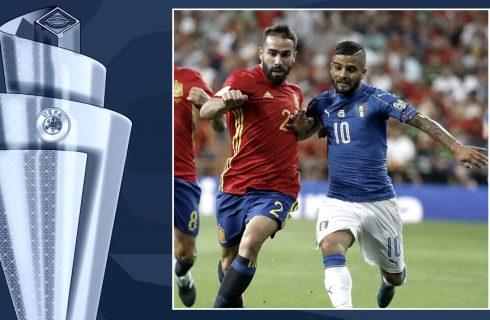 Italia y España juegan la primera semifinal de la Liga de Naciones