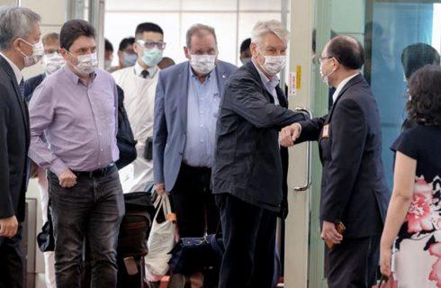 Senadores franceses llegaron a Taiwán en medio de la peor tensión con China en 40 años