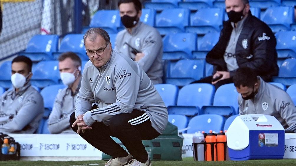 Bielsa dirigió su segundo encuentro en Premier ante el Fulham